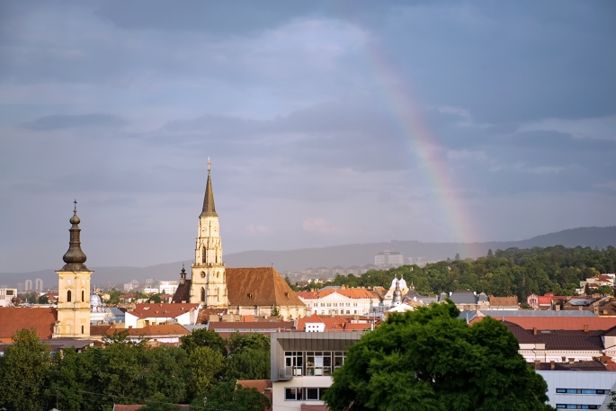 Rainbow Over Cluj